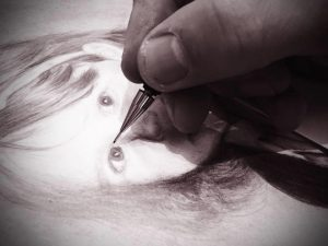 Hand drawn realistic pencil portraits