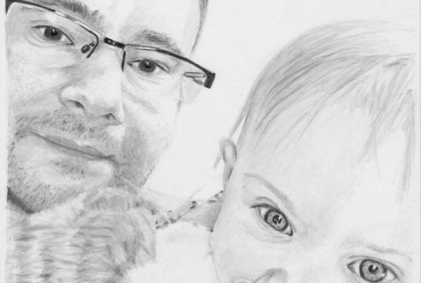A portrait of my brother Nic and his daughter Lilly.