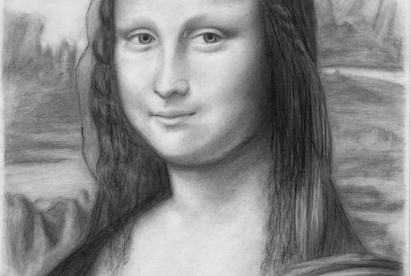 A Pencil Portrait Of The Mona Lisa